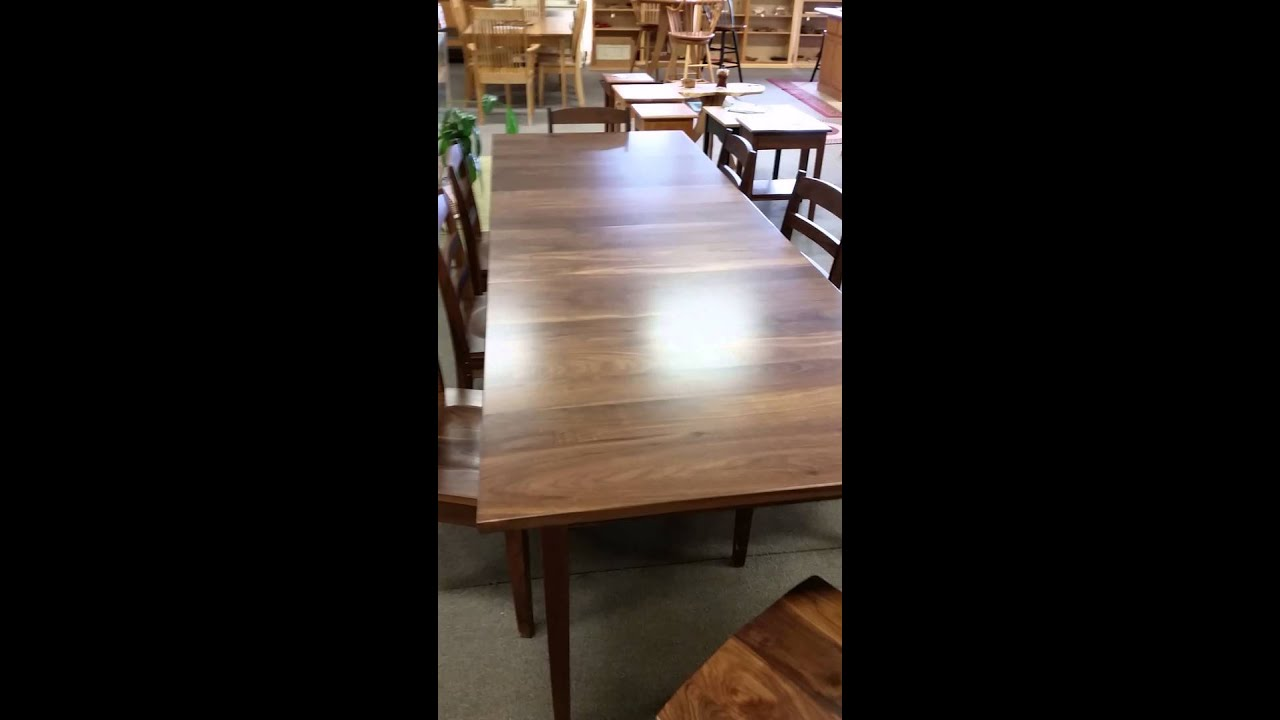 Custom Walnut Extension Table By Maine Made Furniture Co