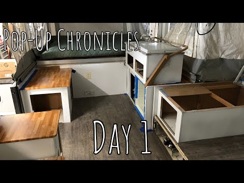 Pop Up Chronicles | Day 1 (Clean Out, Painting, Curtains)