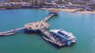 Redcliffe Jetty Pier flyover with DJI Phantom 2 Vision+