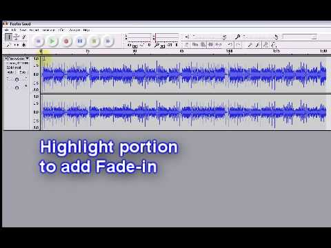 Use Audacity Sound Editor To Cut and Fade In/Out Audio Files
