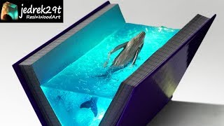 WHALE in the Book. Diorama / RESIN ART