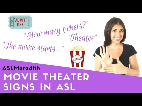 Movie Theater Signs For Beginners In American Sign Language
