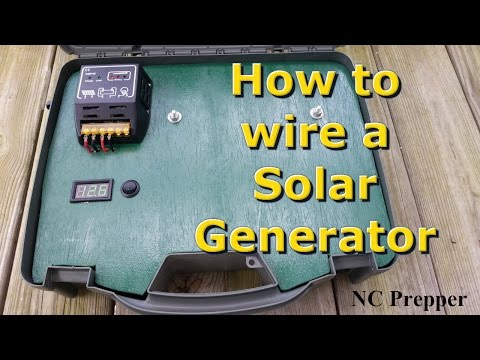 How to wire a Portable Solar Generator