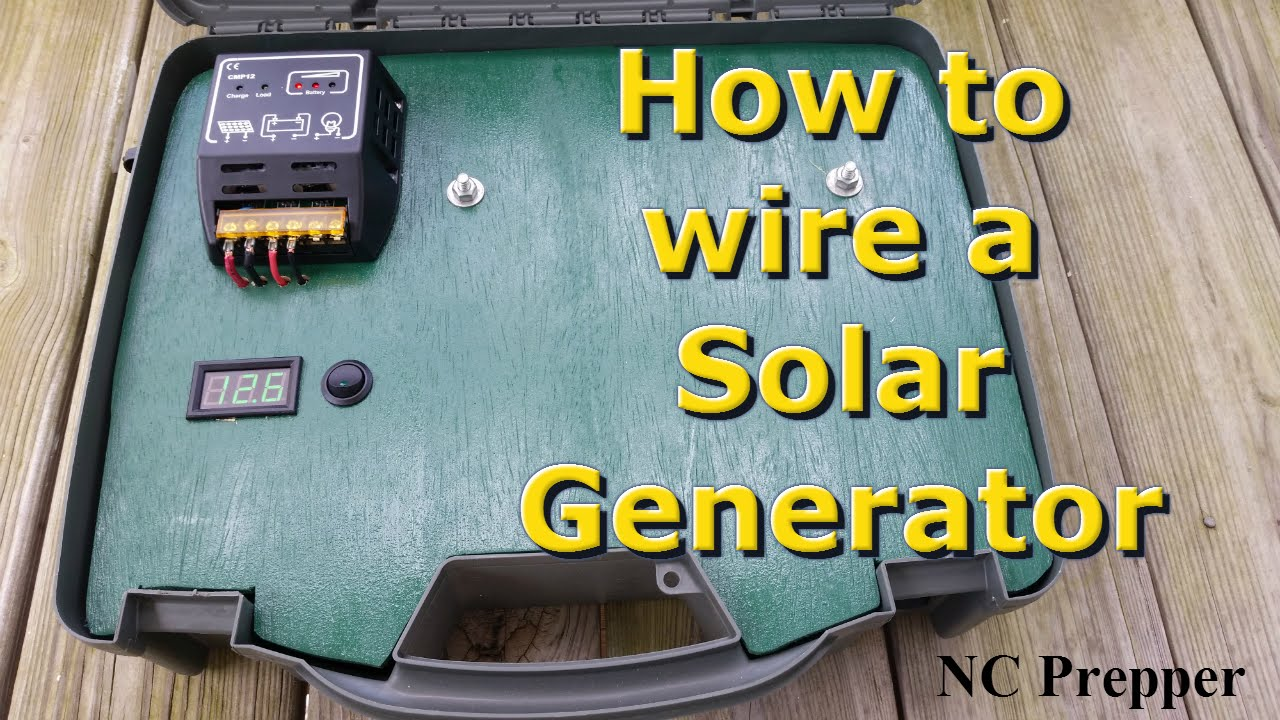 How to wire a Portable Solar Generator YouTube