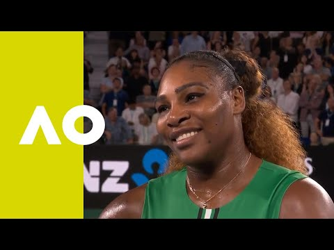 Serena Williams on-court interview (2R) | Australian Open 2019
