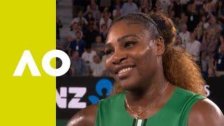 Serena Williams on-court interview (2R) | Australian Open 2019 Video