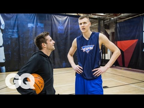 Kristaps Porzingis Gets Interviewed… While Playing 1-on-1 - Athletes | GQ Mp3
