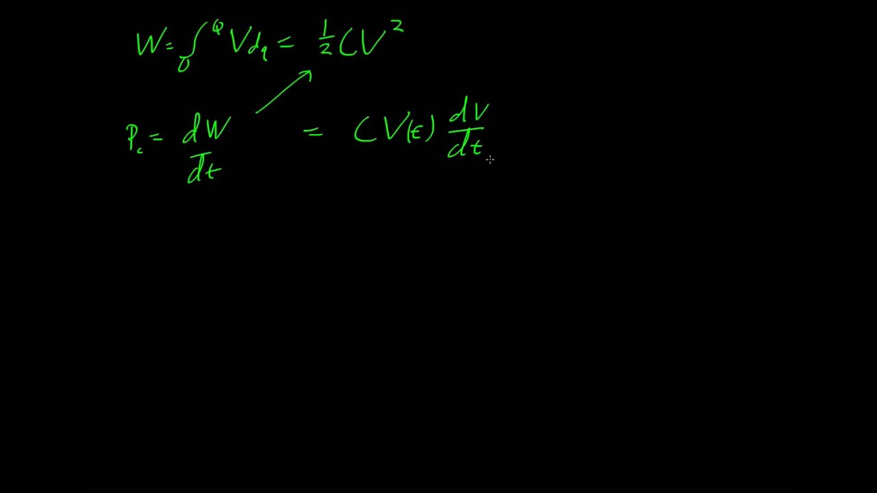 Capacitors And Dc Circuits Youtube In
