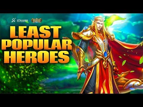 Heroes Evolved: Top 5 Least Popular Heroes