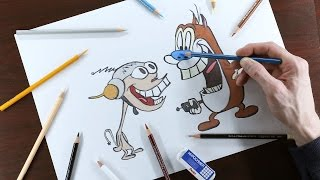 How to Draw Ren and Stimpy