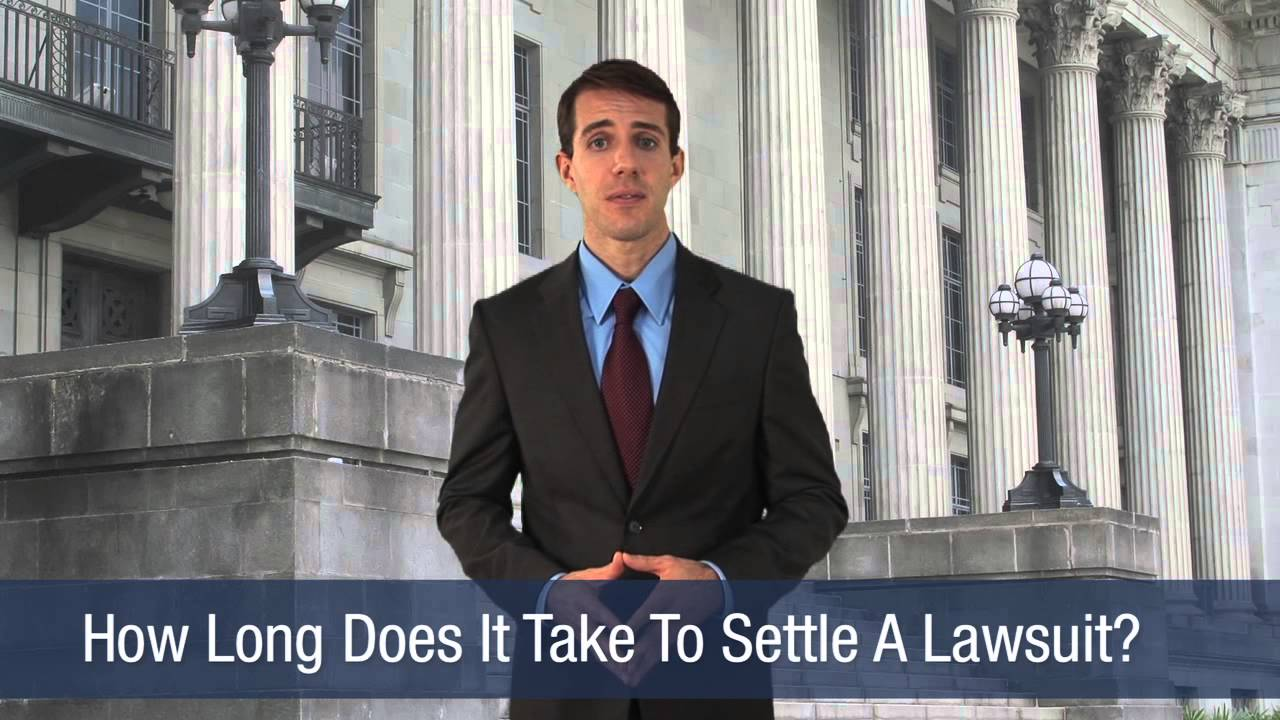 How Long Does It Take To Settle A Lawsuit - YouTube