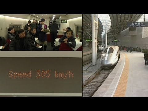 The train takes the strain from the plane in China