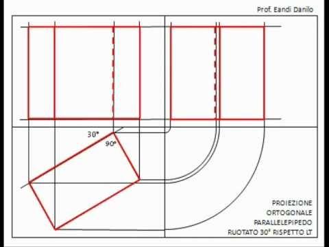 Proiezione ortogonale parallelepipedo ruotato di 30° rispetto LT ...