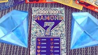 Diamond7 Rubbellose Wir Testen Weiter 20€ Lose die Million Freirubbeln und Gewinnen? KING Lucky 2020