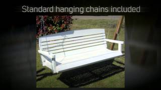 Tmp Outdoor Furniture American White Porch Swing