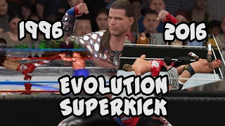 The Evolution of the Superkick from WWF In Your House to WWE 2K17