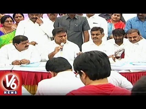 Minister KTR Answers To Media Personal Questions | Inaugurates Nallagandla Reservoir | V6News