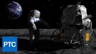 Photoshop CS6 3D: MOON WALK Scene - How To Create a Space Scene in Photoshop 3D