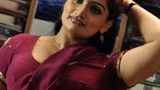MALLU ACTRESS BABILONA in PINK Saree Video