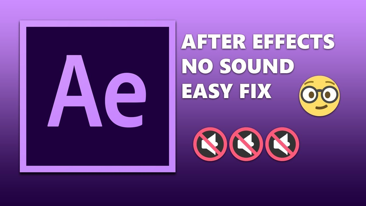 After Effects Easy Audio Preview Fix Youtube