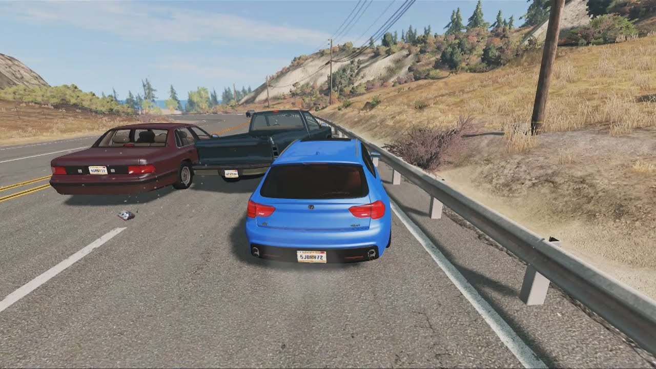 Bad Driving & Road Rage Compilation    BeamNG.drive