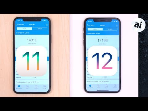 Speed testing iOS 11 versus iOS 12 on an iPhone X