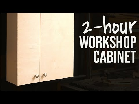 The 2-Hour Shop Cabinet // Quick+Dirty Woodworking Project DIY