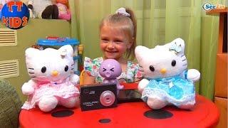 ✔ Хелло Китти Динамики. Ярослава открывает подарки от мамы. Игрушки для детей. Hello Kitty ✔(Привет! Ярослава открывает подарки от мамы. Сегодня Ярославу ждут интересные игрушки, а так же главный..., 2016-03-01T09:05:53.000Z)