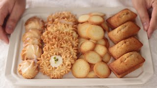 レモンのラングドシャ、クッキー、フィナンシェの作り方 Lemon langue de chat, Butter Cookie, Financier*卵白のお菓子|HidaMari Cooking