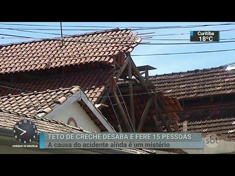 Teto desaba em creche e deixa 19 feridos, a maioria crianças | SBT Brasil (18/04/18)