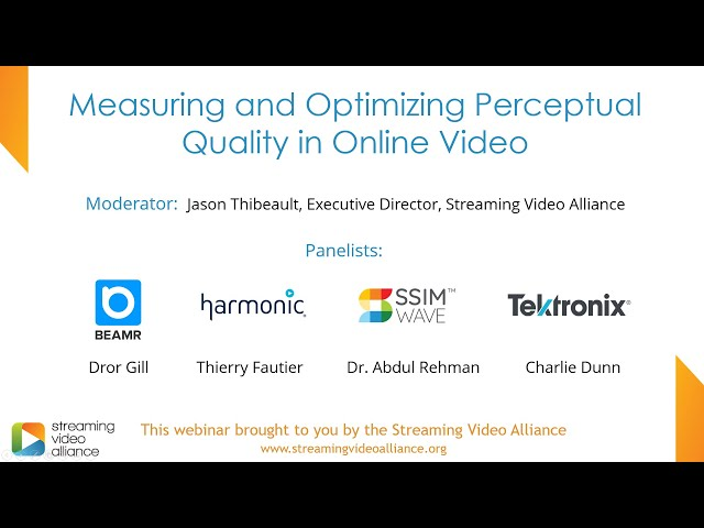 Measuring and Optimizing Perceptual Quality in Online Video
