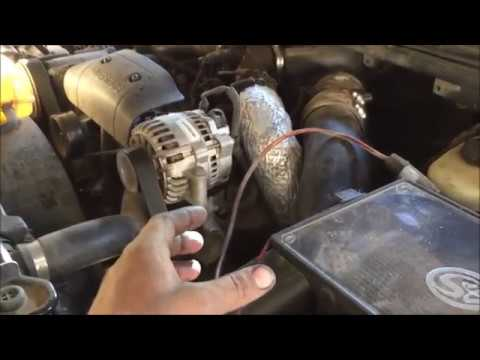 power steering pump remove and replace 1990 to 2000 ford f-250 - YouTube