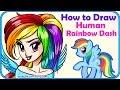 How to Draw a Human Rainbow Dash