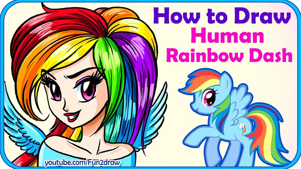 How to draw a Rainbow pony