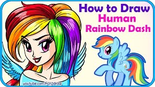 How to Draw a Human Rainbow Dash