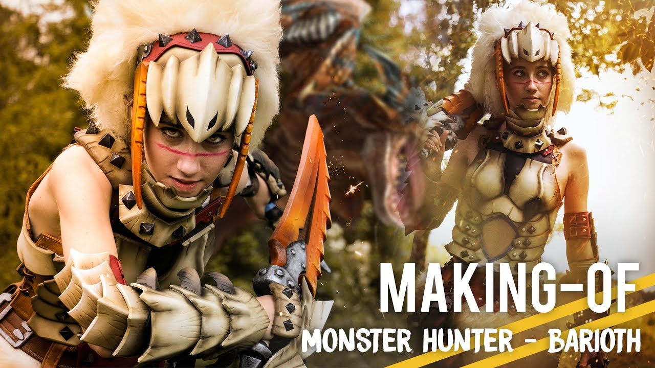 Monster Hunter Barioth Cosplay Making Of Youtube