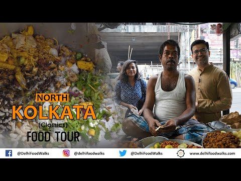 North Kolkata CLASSIC Street FOOD Tour I Jhalmuri + Ghugni + Sandesh + Telebhaja + Fish/Prawn Cutlet