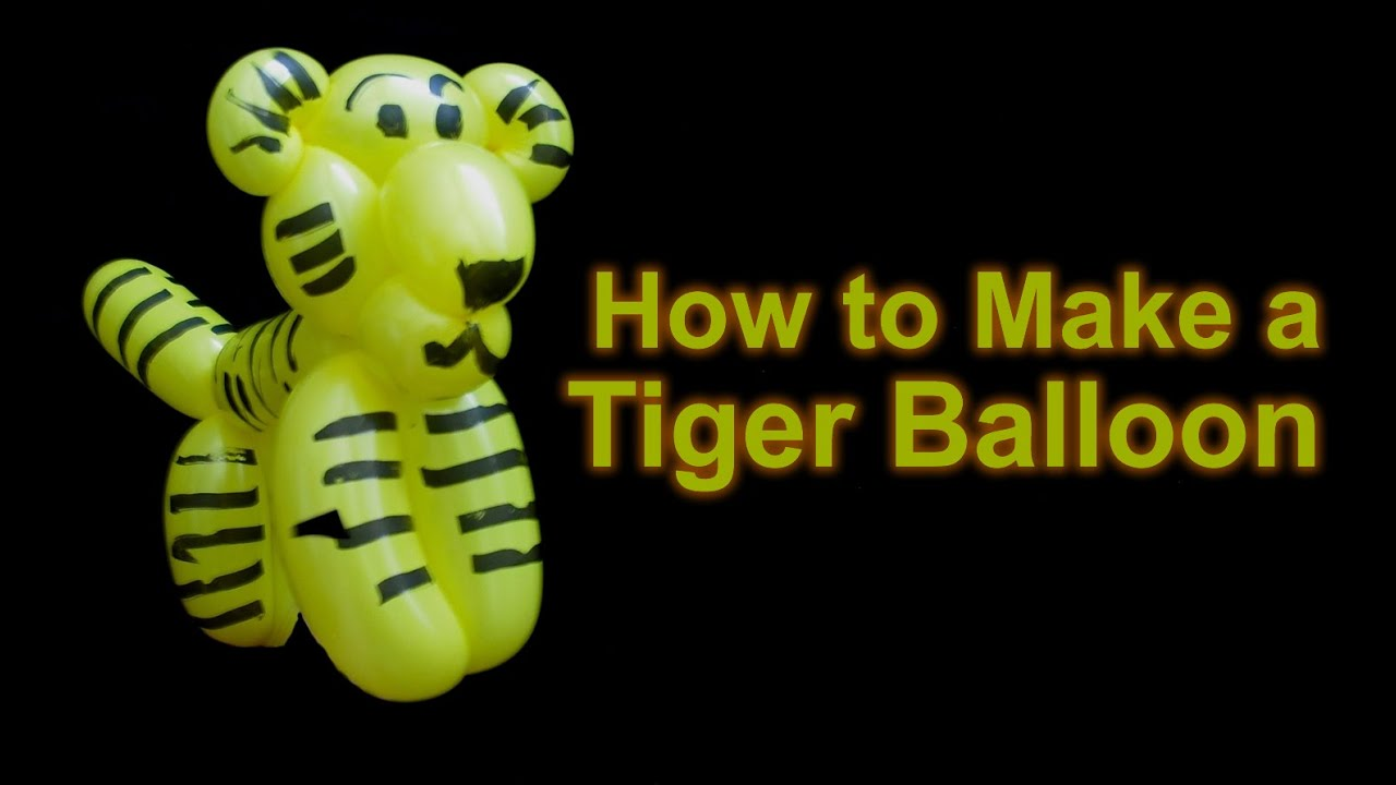 how to make a tiger balloon animal youtube. Black Bedroom Furniture Sets. Home Design Ideas