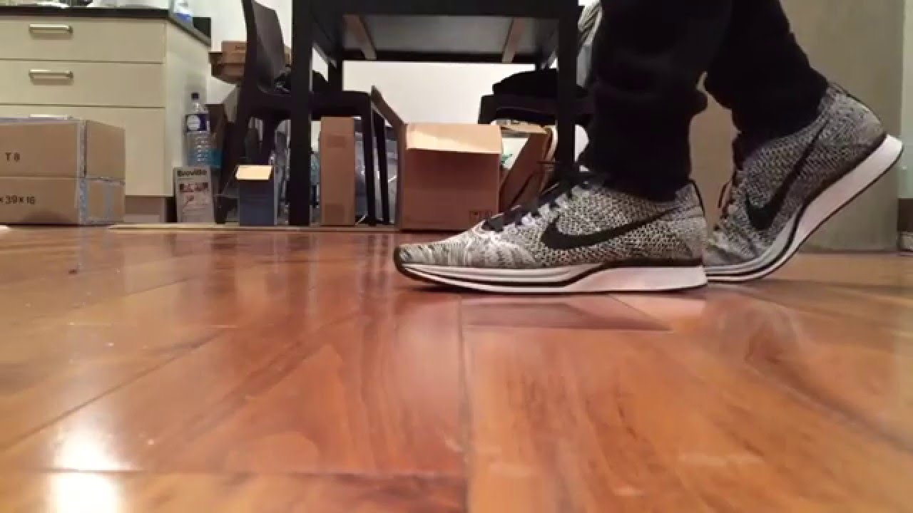 Nike Flyknit Racers 2016 'Cookies and Cream' Quick ON Feet look - YouTube