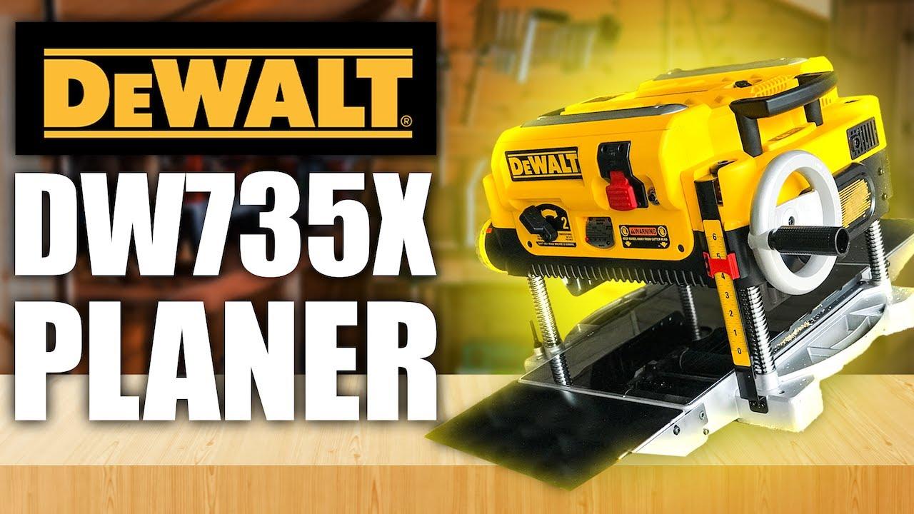 DeWalt DW735x Planer Unboxing and Review