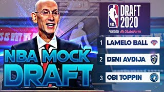 The Official 2020 NBA Mock Draft