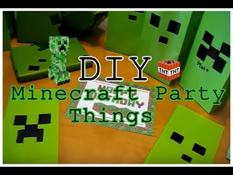 DIY Minecraft Wrapping Paper Party Bags