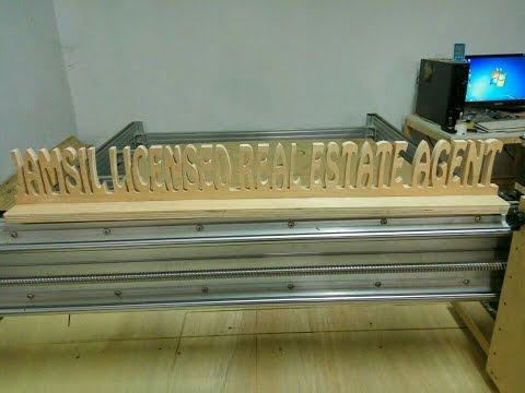 Homemade 4x8 CNC Router (DNC) wood cutting