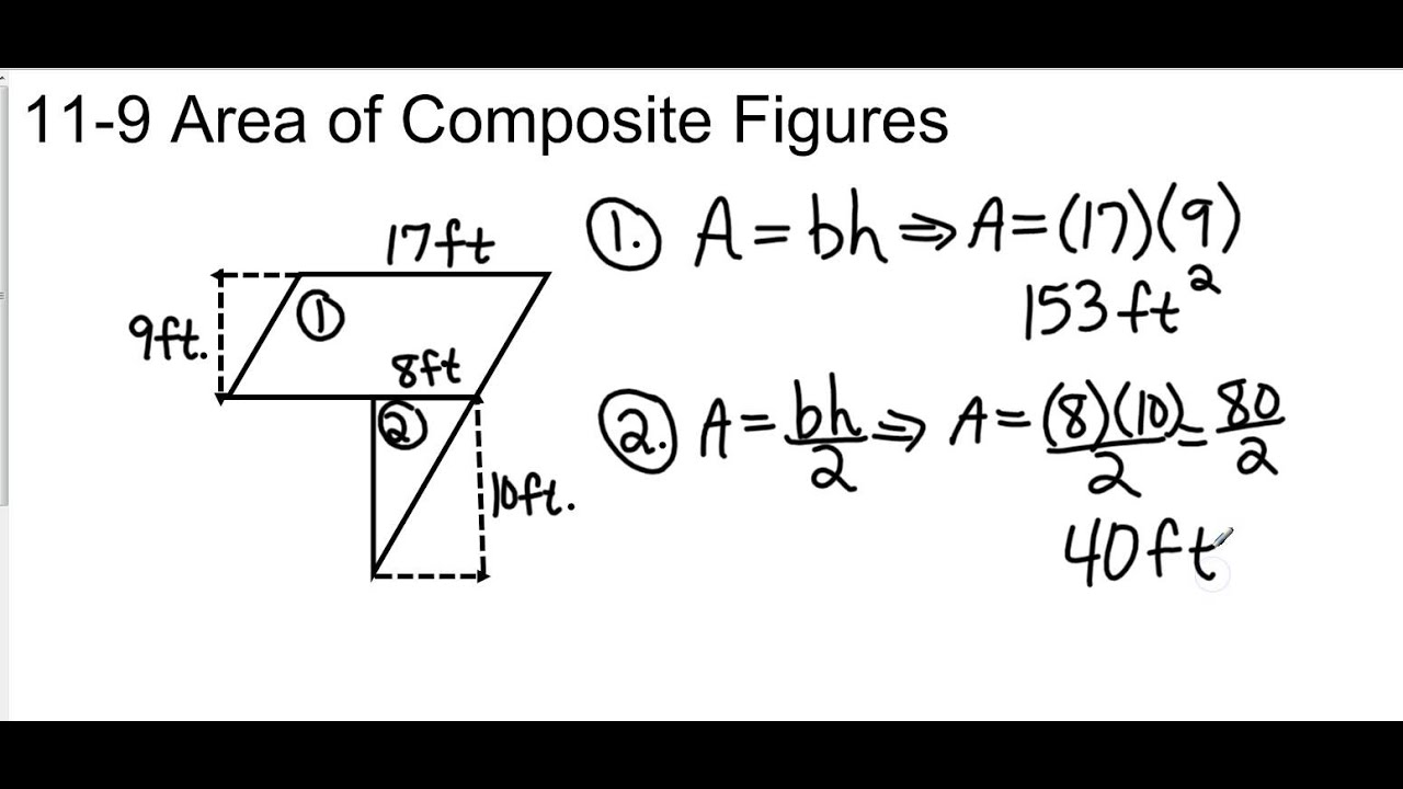 how to get area of composite figures