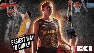 How to dunk like LaMelo Ball and Lonzo Ball : EASIEST WAY TO DUNK!!! Video