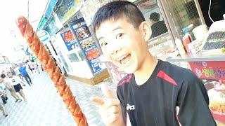 長すぎる フランクフルト! 買い食い 海雲台 @韓国 釜山 【 関釜フェリーで行く! 韓国 釜山 家族旅行】