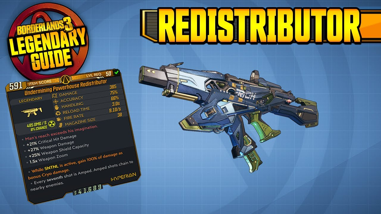 BEST SMG in BL3?! - REDISTRIBUTOR | Legendary Weapon Guide [Borderlands 3] thumbnail