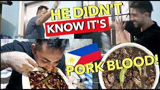 MUSLIM FRIEND PRANK! Made Him EAT DINUGUAN! 😱 LAPTRIP!! 🇵🇭