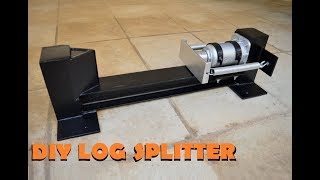 DIY LOG SPLITTER made out of scrap metal