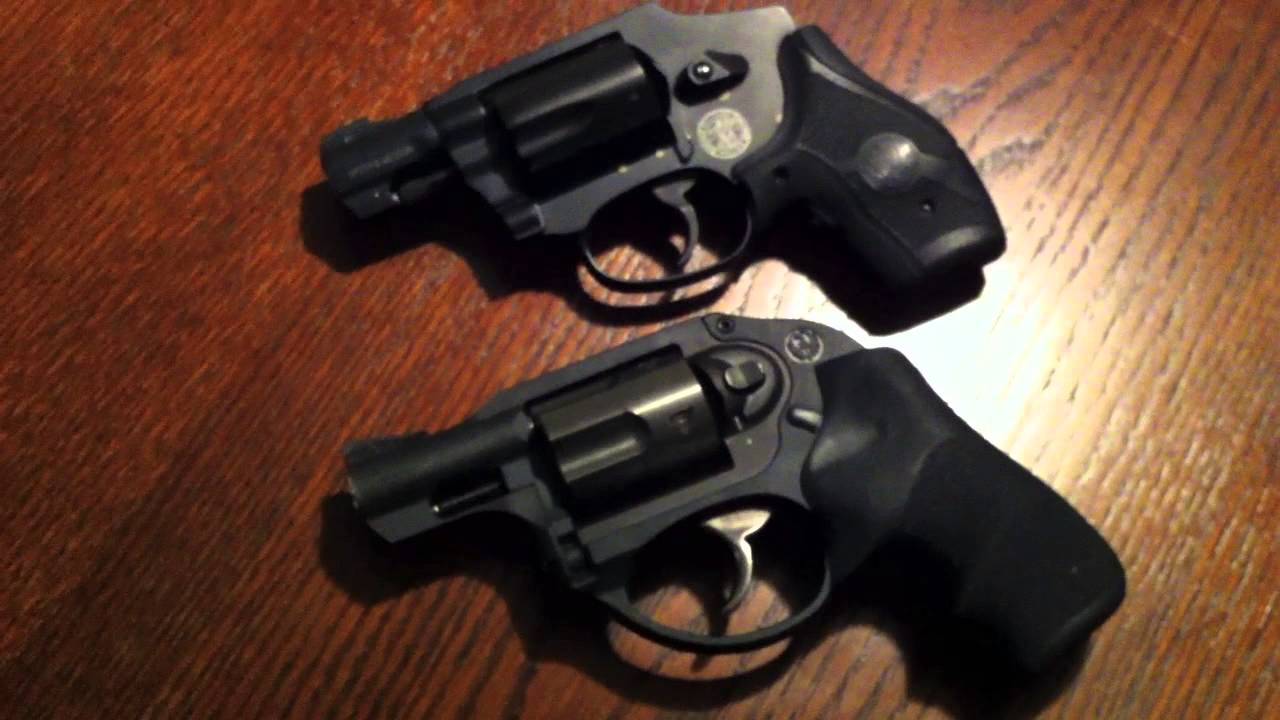 Comparing Ruger LCR : S&W 340 M&P j-frame - YouTube